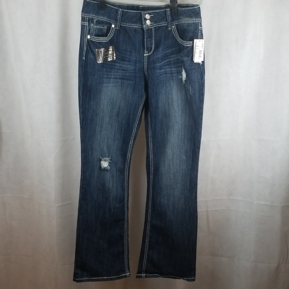 Absolutely Famous Denim - NWT Absolutely famous Destructed Jeans size 14